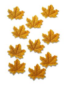 Listki ozdobne, materiałowe, kolor jesieni, 10sztuk, v3
