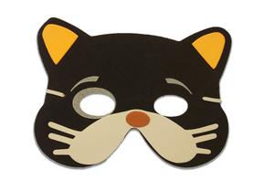 Karnawałowa maska piankowa kotek