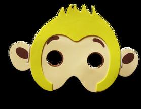 Karnawałowa maska piankowa małpka