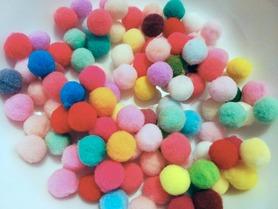 Pompony mix - 100szt. kreatywne 10mm, dekoracje
