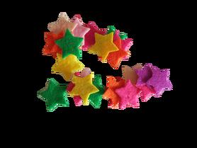 Gwiazdeczki filcowe 20mm - 25szt. mix kolorów