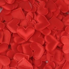 Czerwone satynowe serduszka poduszeczki - 20szt.