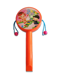 Bębenek dwustronny obrotowy z gwizdkiem, edukacja muzyczna
