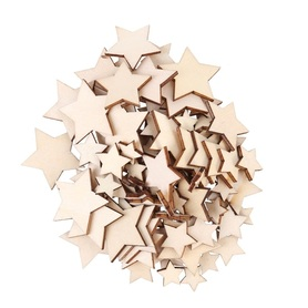 Drewniane gwiazdeczki mix wielkości, 25sztuk