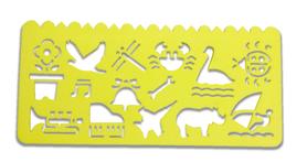 Plastikowy szablon do rysowania - żółty