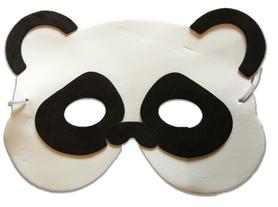 Karnawałowa maska piankowa panda