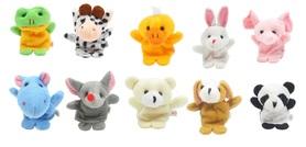 Pacynki na palce zwierzęta, palczatki, zabawki kreatywne