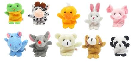 Pacynki na palce zwierzęta, palczatki, zabawki kreatywne (1)
