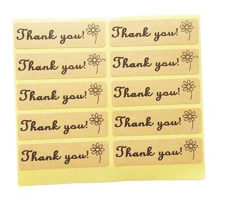 NAKLEJKI OZDOBNE PODZIĘKOWANIA THANK YOU 10szt. (1)