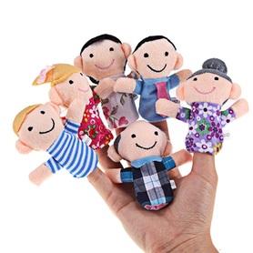 Pacynki na palce rodzinka - 6szt. zabawki kreatywne