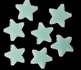 Gwiazdki fluorescencyjne niebieskie - 20szt. samop