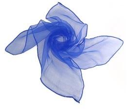 Chusta do tańca, szal, edukacja dzieci, niebieska 60x60cm