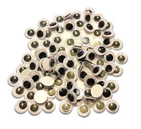 OCZY RUCHOME SAMOPRZYLEPNE PLASTIKOWE 8MM - 100SZT.