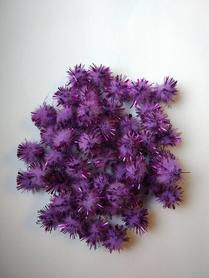 Pompony włochate fioletowe 50szt. kreatywne