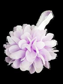 Piękna opaska z kwiatem do włosów, chrzest, fioletowa