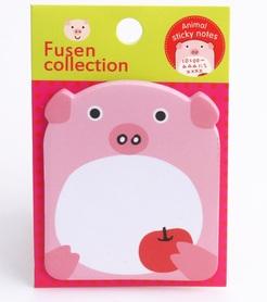 Karteczki, naklejki, zakładki, świnka, samoprzylepne