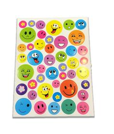 Naklejki emotikonki mix, 45 sztuk! buźki różne rodzaje
