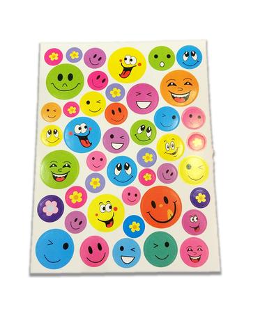 Naklejki emotikonki mix, 45 sztuk! buźki różne rodzaje (1)
