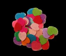 Kolorowe serduszka filcowe 20mm - 50szt, kreatywne