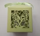 Pudełeczko dekoracyjne na cukierki, dla gości, zielone (1)