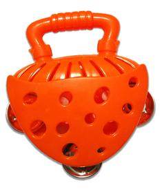 Tamburyno pomarańczowe, nauka i zabawa, instrumenty dla dzieci