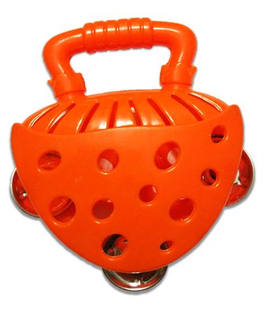 Tamburyno pomarańczowe, nauka i zabawa, instrumenty dla dzieci (1)