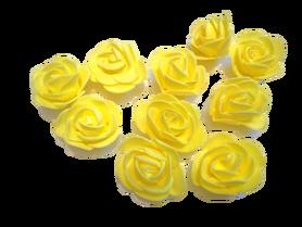 Róże piankowe zółte - 10szt. kreatywne
