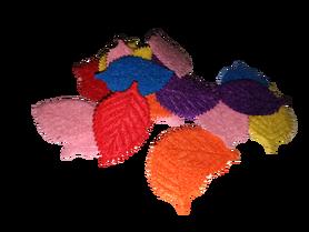 Listki filcowe mix kolorów - 25 sztuk.