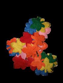 Listki klonu filcowe mix kolorów - 25 sztuk.