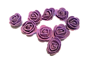 Róże piankowe fioletowe - 10szt. kreatywne