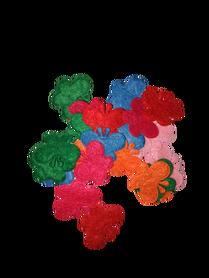 Motylki czułka filcowe mix kolorów - 25 sztuk.
