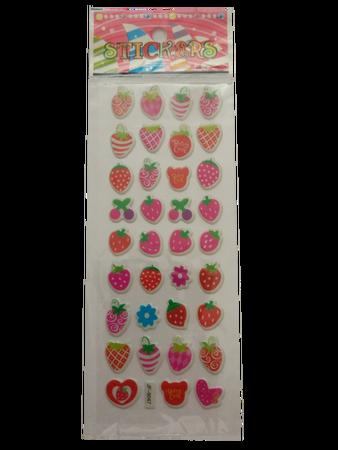 Naklejki 3D arkusz z owocami, mix kolorów i wielkości 2 (1)