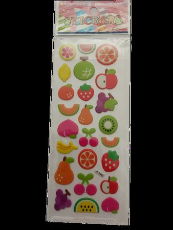 Naklejki 3D arkusz z owocami, mix kolorów i wielkości 4 (1)