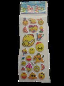 Naklejki 3D emotikony, buźki, minki, mix kolorów i wielkości 3