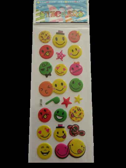 Naklejki 3D emotikony, buźki, minki, mix kolorów i wielkości 4 (1)