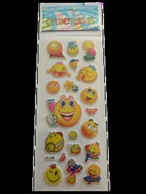 Naklejki 3D emotikony, buźki, minki, mix kolorów i wielkości 9