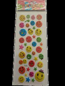 Naklejki 3D emotikony, buźki, minki, mix kolorów i wielkości 11