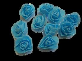 Róże piankowe błękitne - 10szt. kreatywne