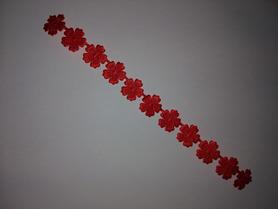 Kwiatuszki tasiemka, długość około 20cm, czerwone