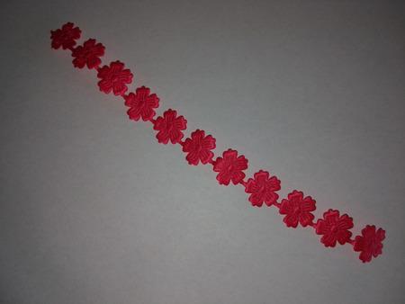 Kwiatuszki tasiemka, długość około 20cm, różowe (1)