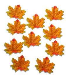 Listki ozdobne materiałowe kolor jesieni 10sztuk, v1