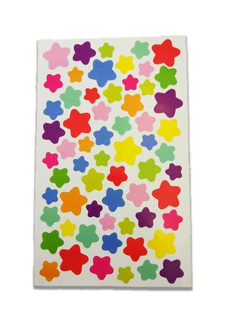 Naklejki ozdobne gwiazdeczki, mix kolorów i wielkości (1)