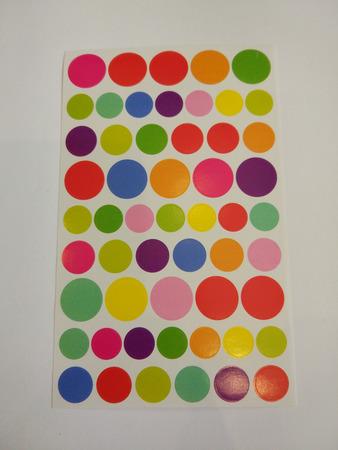 Naklejki ozdobne kółeczka, mix kolorów i wielkości (1)