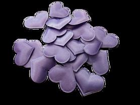 Fioletowe satynowe serduszka poduszeczki - 20szt.