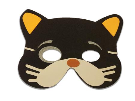 Karnawałowa maska piankowa kotek (1)