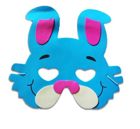 Karnawałowa maska piankowa króliczek (1)