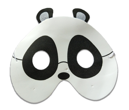 Karnawałowa maska piankowa panda (1)