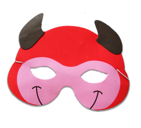 Karnawałowa maska piankowa diabełek