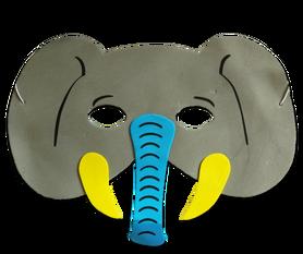 Karnawałowa maska piankowa słonik