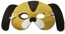 Karnawałowa maska piankowa piesek